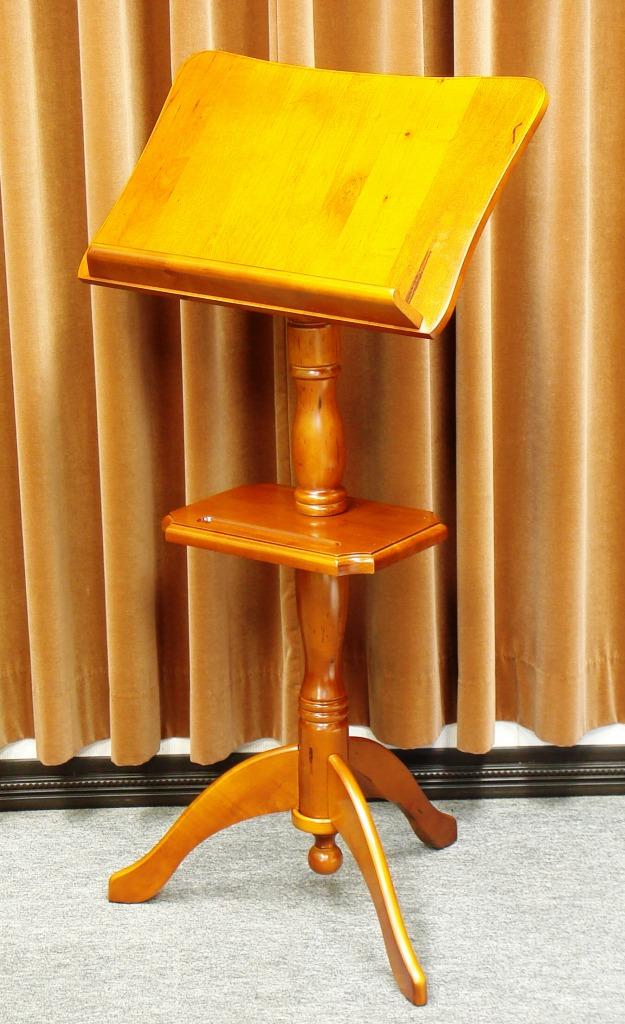 画像1: [座奏時も使える]木製譜面台