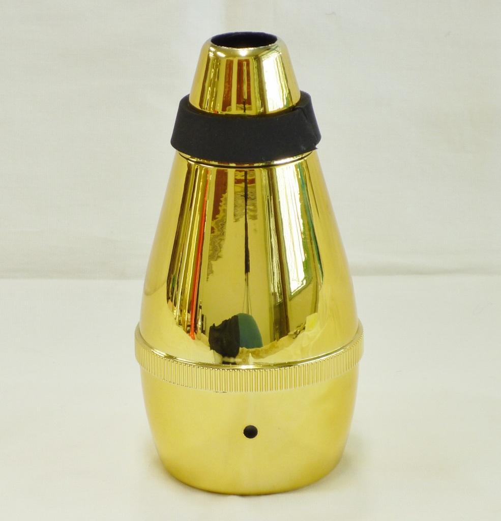 画像1: 祭りラッパ練習用弱音器・ゴールド