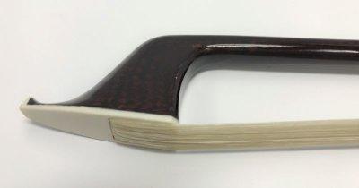 画像2: 茶カーボン製コントラバス弓(白毛)