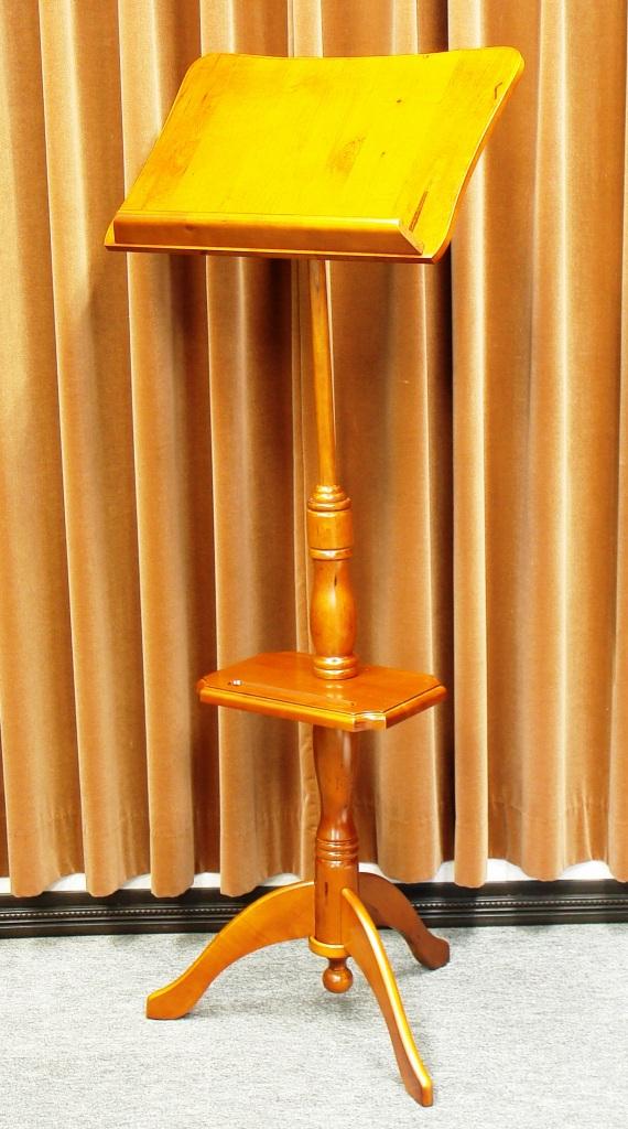 画像2: [座奏時も使える]木製譜面台