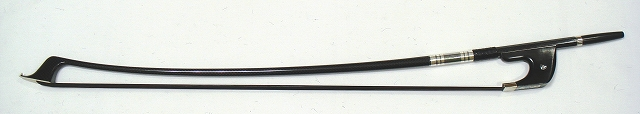 画像1: [ケース付]カーボン製コントラバス弓(黒毛)